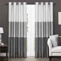 Exclusive Home Curtains 2 Pack Chateau Striped Faux Silk Grommet Top Curtain Panels