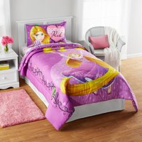 "Disney Rapunzel ""Friends Light Your Way"" Reversible Twin/Full Bedding Comforter, Walmart Exclusive"
