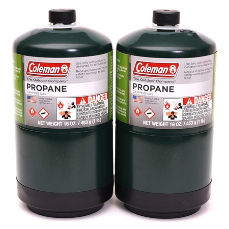 Coleman Propane Fuel, 16oz, 2-pack