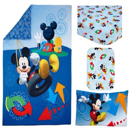 Disney Mickey Mouse Adventure Day 4-Piece Toddler Bedding ...