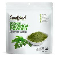 Sunfood Superfoods Organic Moringa Powder, 8.0 Oz