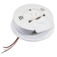 Kidde Hardwired Combination Carbon Monoxide & Smoke Alarm, 120V AC / AA Battery Backup, Model KN-COSM-IBA