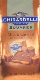 Ghirardelli Squares Milk & Caramel Chocolate, 5.32 Oz.