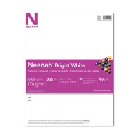 Neenah Bright White Cardstock, 8.5 x 11, 65 lb., 80 Sheets