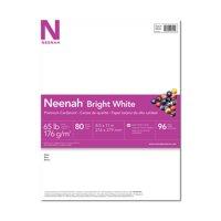 Neenah Bright White Cardstock, 8.5 x 11, 65 lb., 80 Sheets
