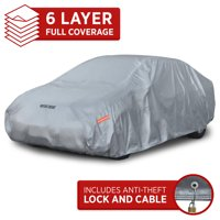 "Motor Trend Car Cover 7 Series Defender Pro - All Weather Protection - Water, Snow, Win & UV Proof - Ultra Heavy 6 Layers (up to 157"")"