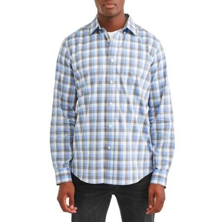 George Long Sleeve Poplin Shirt up to 5XL Crusher Long Sleeve Tee