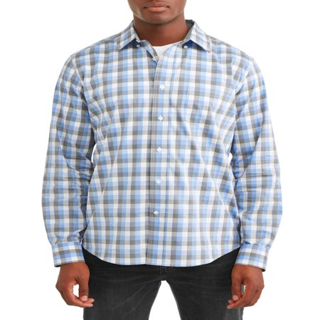 George Long Sleeve Poplin Shirt up to 5XL (Cotton Poplin Field Shirt)