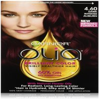 6 Pack - Garnier Olia Oil Powered Permanent Hair Color, Dark Intense Auburn [4.60] 1 ea