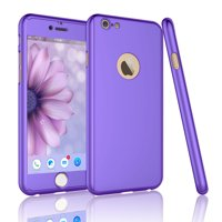 iPhone 6 Plus Case, iPhone 6S Plus Case, Tekcoo [T360 HY] Ultra Thin Full Body Coverage Protection Scratch Proof Hard Slim Hybrid Cover Shell With Tempered Glass Screen Protector Skin