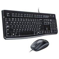 Logitech MK120 Wired Desktop Set, Keyboard/Mouse, USB, Black