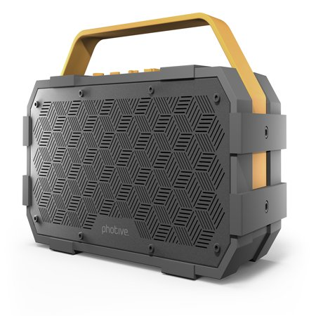 Rca Wireless Stereo Speaker (Photive M90 XLarge Portable Wireless Bluetooth Speaker with Built-In Subwoofer. Waterproof Shockproof 20-Watts EXTREME Audio Power. Water Resistant Outdoor Stereo Speaker Boombox )