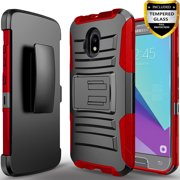 Samsung Galaxy J7 Refine/J7 2018/J7 V 2nd Gen/J7 Aero/J7 Eon/J7 Star/J7 Crown/J7 Aura/J7 Top Phone Case , With [HD Screen Protector] Belt Clip Holster Phone ...