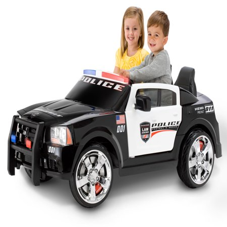Kid Trax Dodge Pursuit Police Car 12-Volt Battery-Powered Ride-On](Kids Police Car)