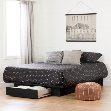 South Shore Full/Queen Holland Platform Bed with Drawer, Multiple