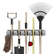 Shovel Rake And Tool Holder With Hooks Wall Mounted Organizer For Garage Closet