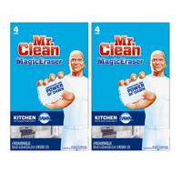 (2 pack) Mr. Clean Magic Eraser Kitchen, Cleaning Pads with Durafoam, 4 count