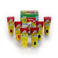 Crayola My First Crayola Fingerpaint Kit, Art Tools, 6 Different Colored Tubes Of Paint, Washable