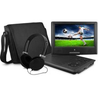 """Ematic 9"""" Portable DVD Player with Matching Headphones and Bag - EPD909"""