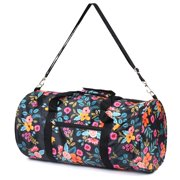 03306d5967 Zodaca Women Marion Floral Small Duffel Gym Travel Bag Soulder Carry Bag