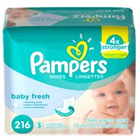 Pampers Baby Wipes Baby Fresh 3X Refill 216 count