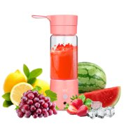 HK 380ml USB Juicer Cup Portable Blender Fruit Mixing Machine Spinner w/ USB Cable Personal