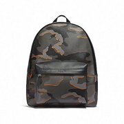 30df47bb578e NEW MEN S COACH (F31557) CAMOUFLAGE GRAY MULTI CHARLES LEATHER BACKPACK BAG