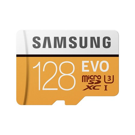 SAMSUNG 128GB EVO Class 10 Micro SDXC Card with Adapter -