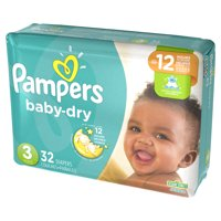 Pampers Baby-Dry Diapers (Choose Your Size and Count)