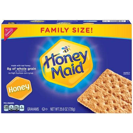 Nabisco Honey Maid Crackers Family Size, 25.6 - Clackers Toy
