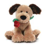 Gund Deangelo Valentine's Day Dog with Red Rose Stuffed Animal Plush NEW with Tags