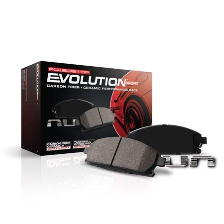 Power Stop Z23-1697 Z23 Evolution Sport Carbon Fiber-Ceramic Brake Pad -Front