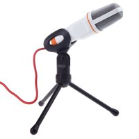 3.5mm Professional Recording Microphone Mic with Stand For Audio Sound Recording Skype Desktop PC laptops Notebook Speech