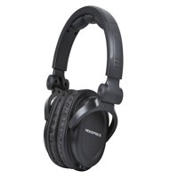 Monoprice Premium Hi-Fi DJ Style Over-the-Ear Pro Headphones With Mic | Comfortable Padding, Supreme Durability