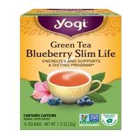(3 Boxes) Yogi Tea, Green Tea Blueberry Slim Life Tea, Tea Bags, 16 Ct, 1.12 OZ