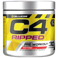 Cellucor C4 Ripped Pre Workout Powder, Fruit Punch, 30 Servings