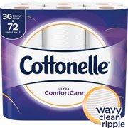 Cottonelle Ultra Comfort Care Toilet Paper, 36 Double Rolls