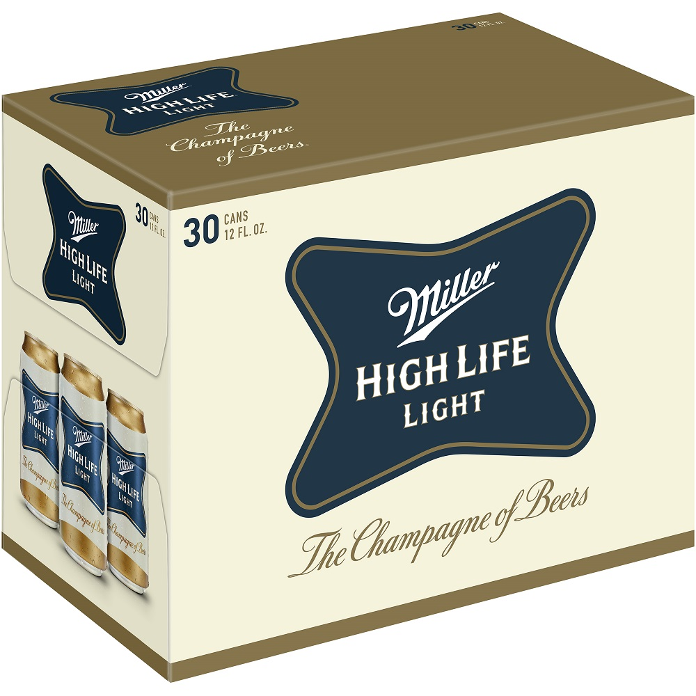 Miller High Life Light, 30 pack, 12 fl oz