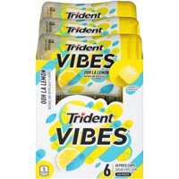 Trident Vibes, Sugar Free Ooh La Lemon Chewing Gum, 40 Pcs, 6 Ct