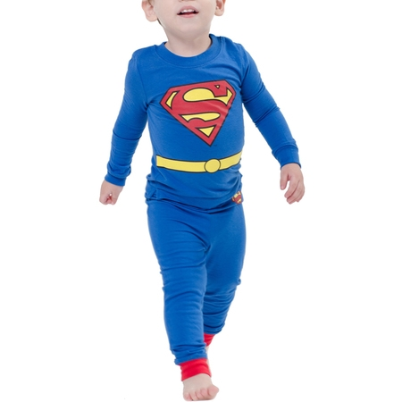 Baby Toddler Boy Tight Fit Sleep 2pc Set](Superman Baby)