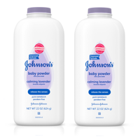 Johnson's Lavender Baby Powder with Naturally Derived Cornstarch, 22 oz