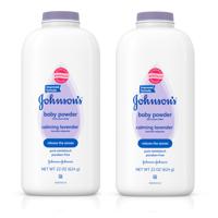 (2 pack) Johnson's Baby Powder Calming Lavender For Irritated Skin, 22 Oz.