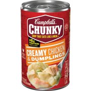 (6 Packs) Campbell's Chunky Soup, Creamy Chicken & Dumplings, 18.8 Oz Can