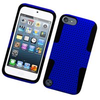 iPod Touch 6th Generation Case, iPod Touch 5th Generation Case, by Insten Mesh Dual Layer [Shock Absorbing] Protection Hybrid Hard Plastic/TPU Rubber Case Cover for Apple iPod Touch 5 5th 6 6th Gen