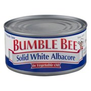(2 Pack) Bumble Bee Solid White Albacore Tuna in Vegetable Oil, Canned Tuna Fish, High Protein Food, 12oz Can