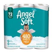 Angel Soft Toilet Paper, 18 Mega Rolls