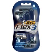 BIC Flex 3 Disposable Razor, Men, 8-Count