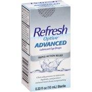 Refresh Optive® Advanced Lubricant Eye Drops 0.33 fl. oz. Box