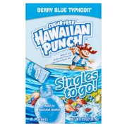 Hawaiian Punch Sugar-Free Berry Blue Typhoon Drink Mix, 0.92 Oz., 8 Count
