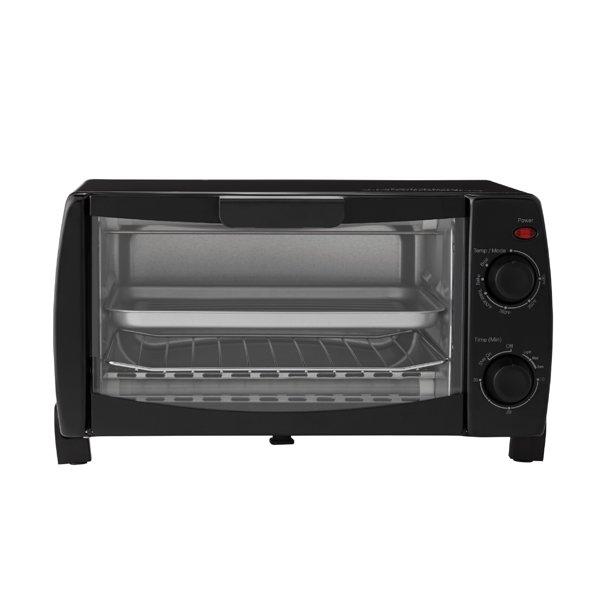 Mainstays 4 Slice Black Toaster Oven
